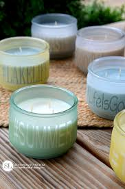 personalize candles diy sea glass personalized candle jars michaelsmakers