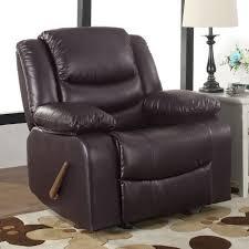 madison home usa classic overstuffed manual rocker recliner