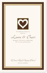 wedding bulletins templates wedding program template jumping the broom ceremony