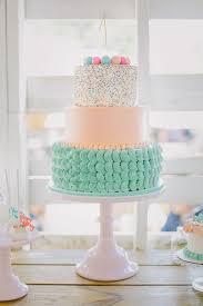 birthday cake idea for first birthday beautiful peach and aqua