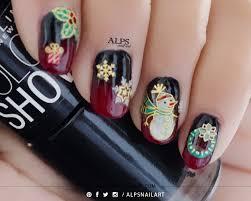 christmas nails with rouge louboutin nail polish bottle inspired