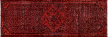 Overdyed Runner Rug One Of A Overdyed Runner 3 X9 Knotted Wool Rug H9446