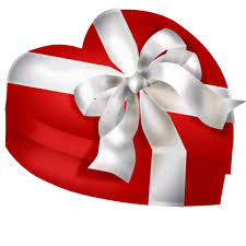 heart gifts heart gift box with white bow png clipart gallery