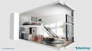 Plan Maison Loft Beatmap The Lofts At Seven Interior 3d Rendering 3d Isometric 01