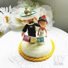wedding cake toppers theme custom wedding cake topper mexican theme by 100original