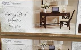 costco home office furniture universal furniture broadmoore writing desk costco weekender