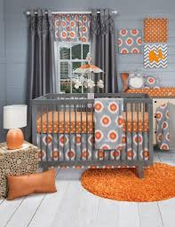Orange Accent Wall by Modern Nursery With Spunky Orange Accent Wall Eva Furniture