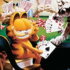garfield playing poker u2013 garfield u0027s art gallery u0026 collectibles