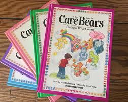 vintage care bears bundle 5 parker brothers books 1980s