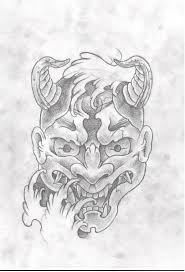 hannya mask tattoo black and grey black and grey hannya mask by asatorarise on deviantart