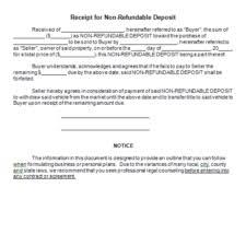 free security deposit receipt templates word excel pdf formats