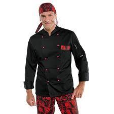 veste de cuisine noir veste de cuisine noir et isacco bicolore