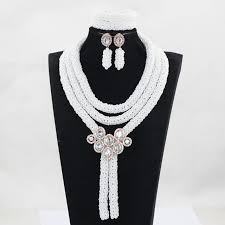 aliexpress bead necklace images Charms white african beads jewelry set nigerian beads necklaces jpg