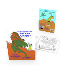 noah u0027s ark u0026 dinosaurs coloring book 5 pack creation evolution
