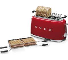 8 Slot Toaster Buy Smeg Tsf02rduk 4 Slice Toaster Red Free Delivery Currys
