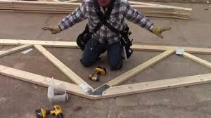 Truss Spacing Pole Barn How To Build A Pole Barn Building The Trusses Youtube