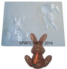bunny mold seated bunny with carrot chocolate mold 4 ht
