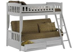 White Bunk Bed Sofa Wood Futon Bunk Sofa Bed White The Futon Shop - Futon bunk bed frame