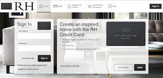 home decor credit cards restoration hardware credit card login rh credit card home decor
