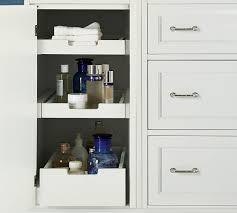 Bathroom Storage Drawers by Custom Classic Asymmetric Single Sink Console With Drawer Storage