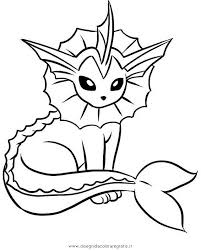 pokemon vaporeon coloring pages sheets cartoon