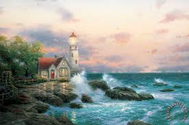 kinkade beacon of painting beacon of print for sale