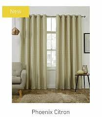 phoenix thermal interlined eyelet curtains in citron available in