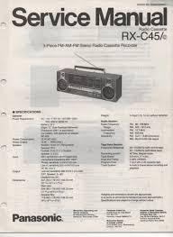 panasonic rx c45 rx 45c radio cassette service manual