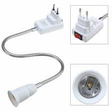 Light Socket Extension E27 Light Lamp Bulb Holder Flexible Extension Converter Switch