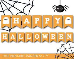 Happy Halloween Printable by 7 Printable Halloween Banners Printables 4 Mom