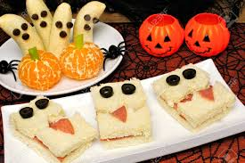 healthy halloween treats monster sandwiches banana ghosts and