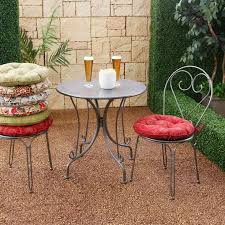 adorable outdoor round seat pad dining bistro cushion modern round