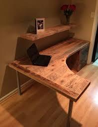 rustic l shaped computer desk excellent l shaped brown wooden