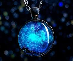 glow in the necklaces in the galaxy necklace
