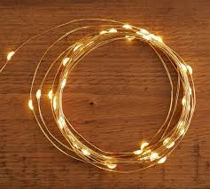 led string lights gold pottery barn