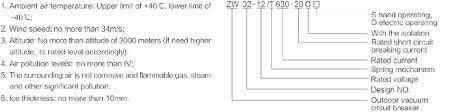 zw32 12 permanent magnetic outdoor vacuum circuit breaker china