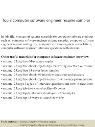 Software Developer Resume Example Top8computersoftwareengineerresumesamples 150407034519 Conversion Gate01 Thumbnail 4 Jpg Cb U003d1428396372
