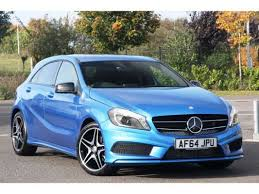 blue mercedes used 2014 64 reg blue mercedes a class amg sport for sale