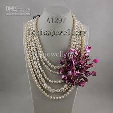 shell pearl necklace wholesale images 2018 wholesale a1297 woman 39 s jewellery pink shell fresh water jpg