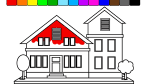 how to draw big country house coloring book for kids kidstv