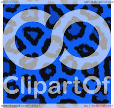 Blue Leopard Print Royalty Free Rf Leopard Print Clipart Illustrations Vector