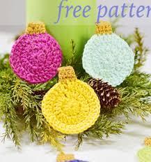 easy crochet bauble ornaments free crochet pattern