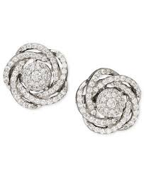 white gold diamond earrings wrapped in diamond earrings 14k white gold diamond pave