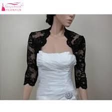 bol ro mariage noir dentelle veste élégante moitié manches de mariée veste boléro