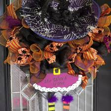 best halloween witch deco mesh wreath products on wanelo