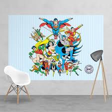 classic dc comic superhero batman robin superman wonder woman vintage classic dc comic superhero batman robin superman wonder woman feature wall wallpaper mural 158cm x 232cm