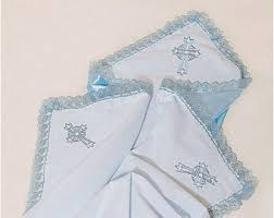 Christening Blanket Personalized Gray Personalized Baptism Blanket Custom Christening Blanket