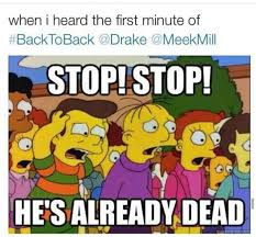 Funny Dissing Memes - drake finishes meek mill with meme filled performance truestar