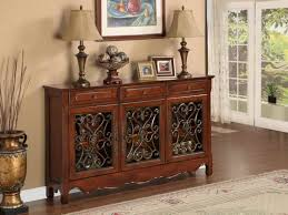 Accent Tables For Foyer Powell Furniture 3 Door Scroll Console Table 246 335the
