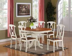 dining room vintage dining table and chair with 4 motif fabric